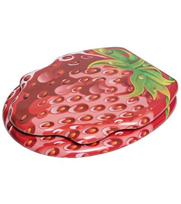 Dunlop Toilettendeckel Strawberry mit Absenkautomatik
